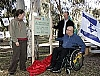 Access Israel staff sitting at the first accessibl