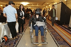 A wheelchair obstacle course through virtual reali (Enlarge)