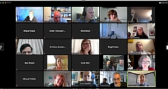 Screenshot of Webinar participants