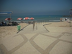An accessible israeli beach