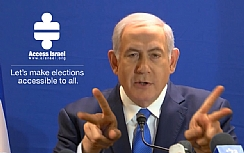 Bibi Netanyahu talks in sign language