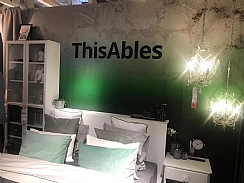 A bed in IKEA taged as ThisAbles