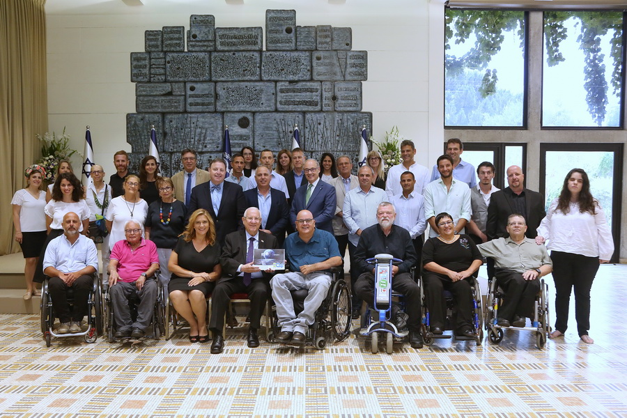 President Reuven Rivlin with Access Israel's delegation