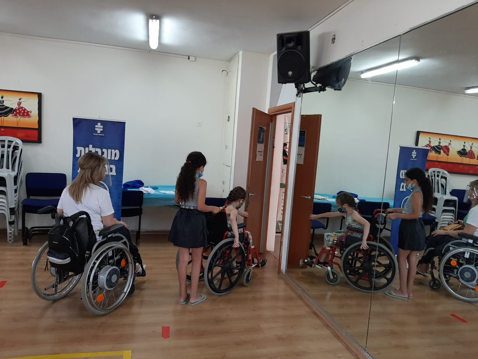 The children  experienced challenges that a person in a wheelchair faces when there is no accessibility