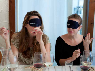eating while wearing blindfold
