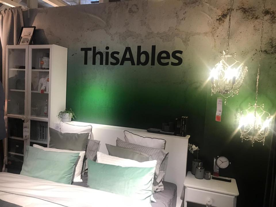 a bed in IKEA taged as ThisAbles - already accommodate people with a range of disabilities