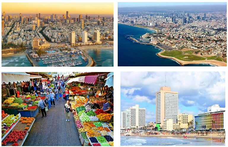 4 pictures of tel aviv