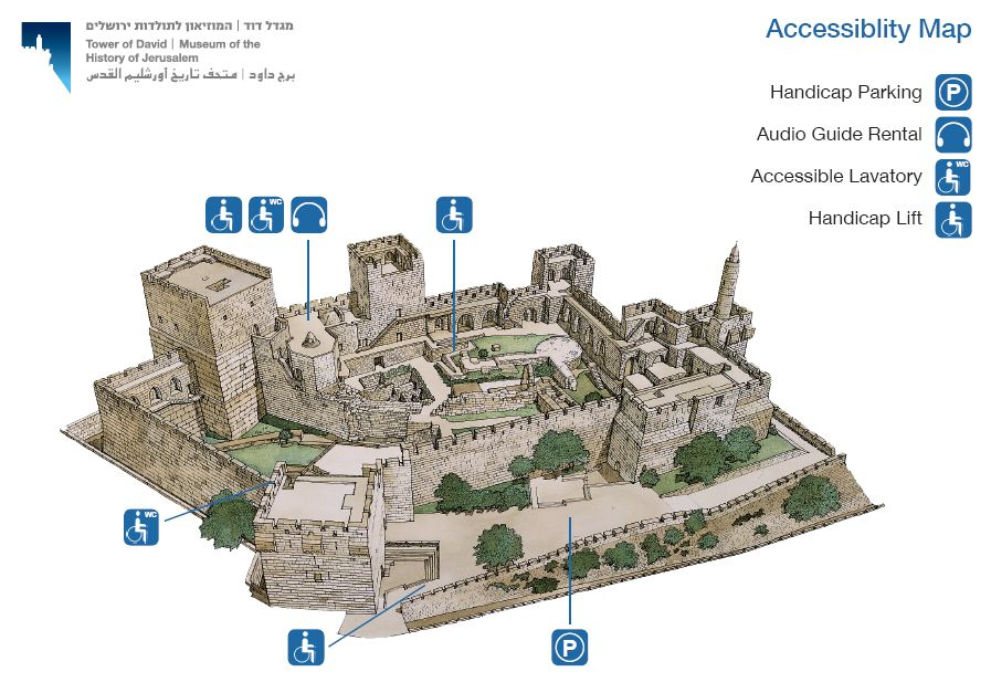 Tower of David Accessibility Map