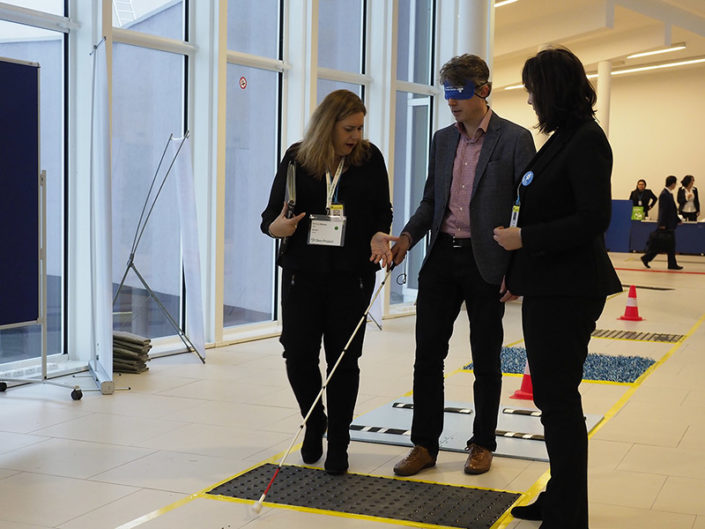 The Accessibility Trail enabled the participants to experience blindness